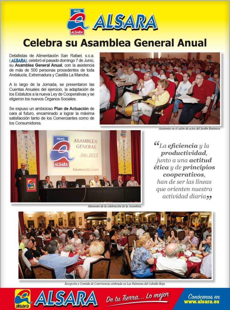 Celebración Asamblea General Anual 2015 1
