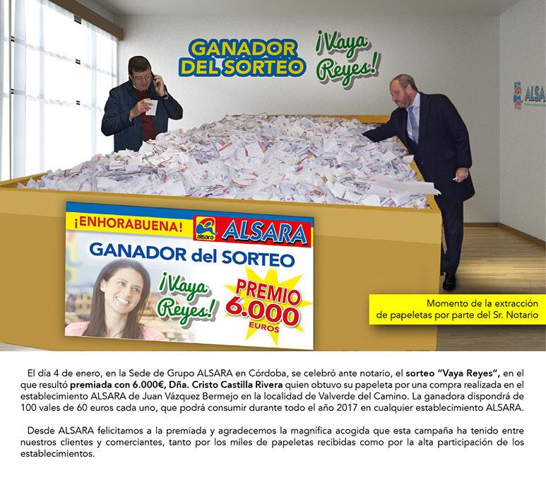 """Sorteo Alsara """"Vaya Reyes"""" 1"""