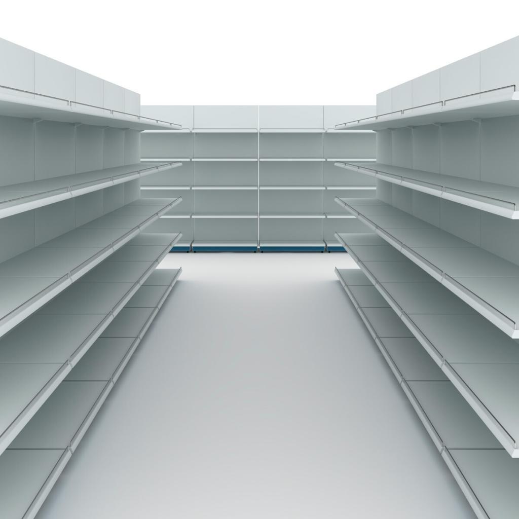 estanterias vacias supermercado alsara