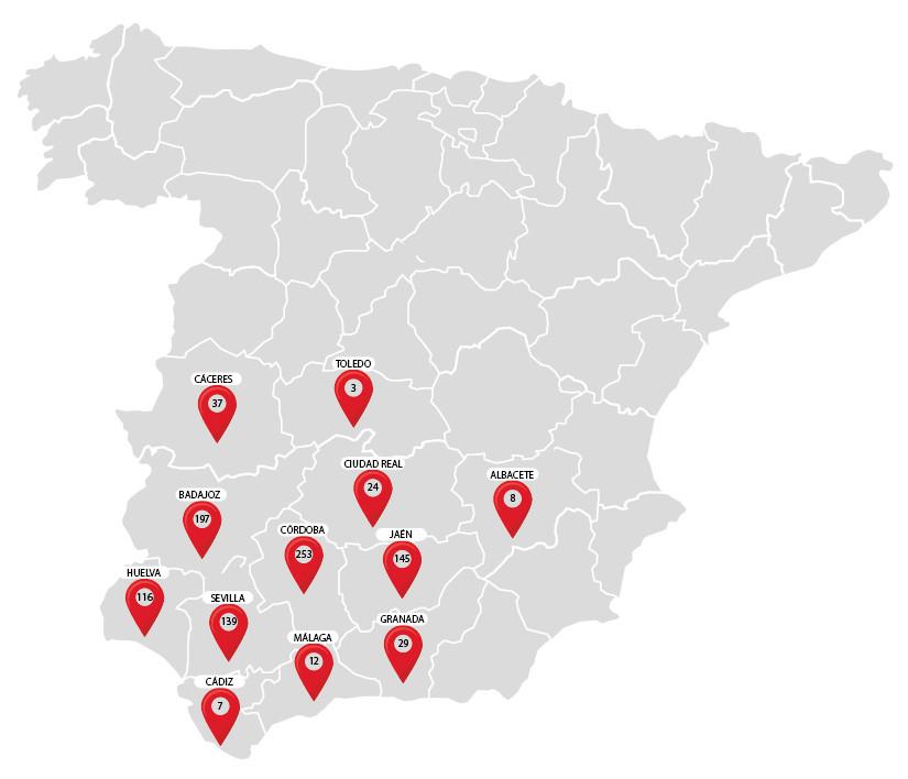 mapa de supermercados alsara