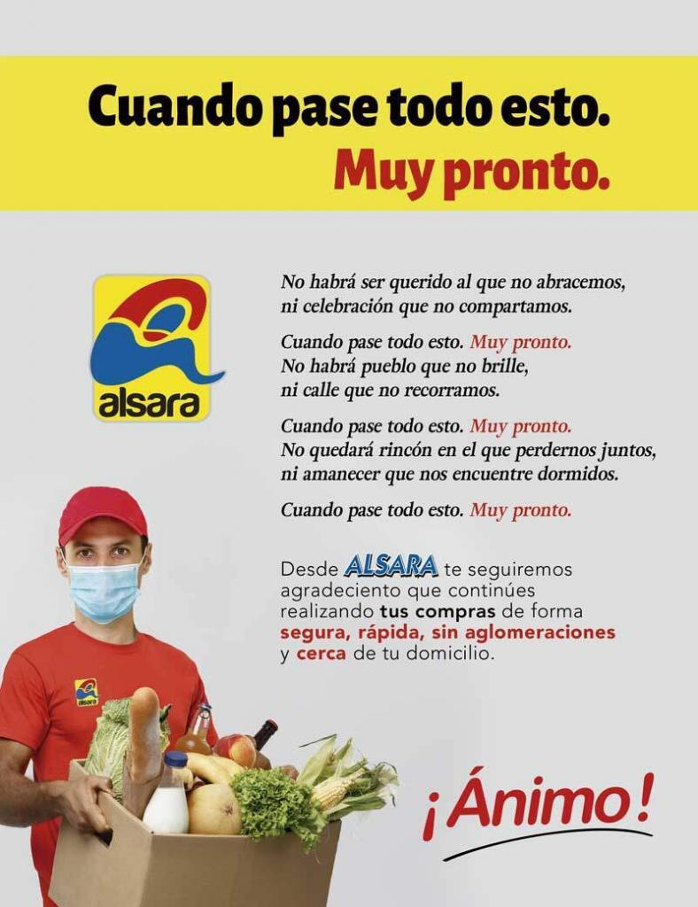 cartel supermercado alsara